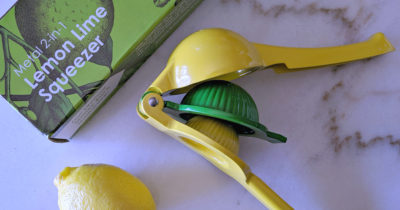 2 in one metal lemon lime squeezer