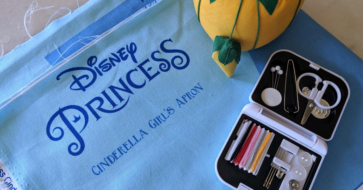 disney princess apron sewing activity