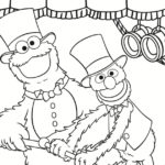 Cookie Monster and Grover Coloring Page