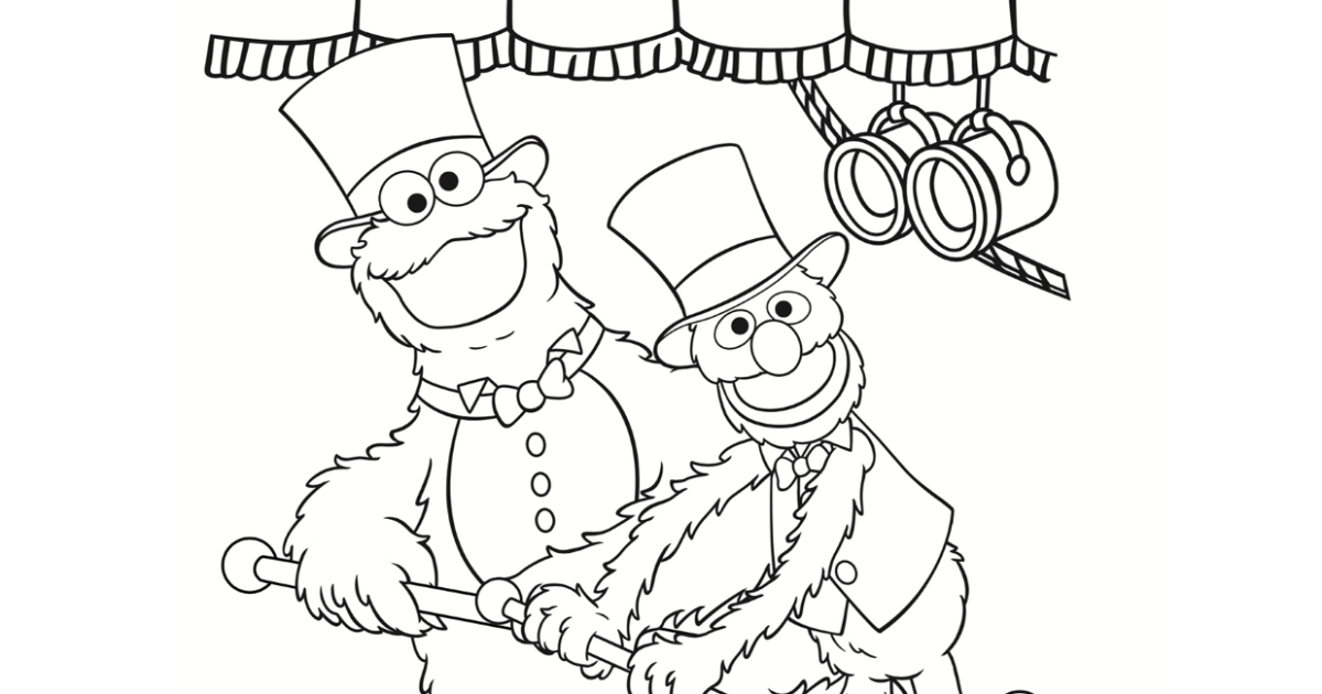 Cookie Monster and Grover Coloring Page | Mama Likes This