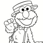 Elmo on Stage Printable Coloring Page