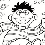 Sesame Street Ernie Dance Party Coloring Page