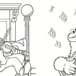 Sesame Street Party Coloring Page Printable
