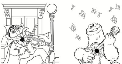feature sesame street dance party coloring