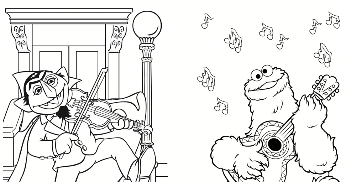 Sesame Street Party Coloring Page Printable Mama Likes This