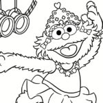Zoe Dance Party Coloring Page