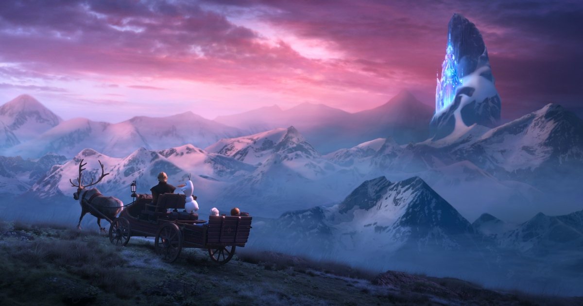 mountain scene from frozen 2