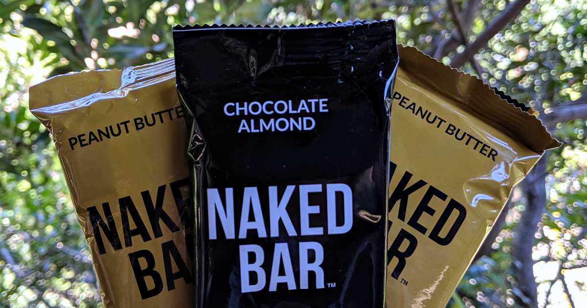 peanut butter and chocolate almond naked bar