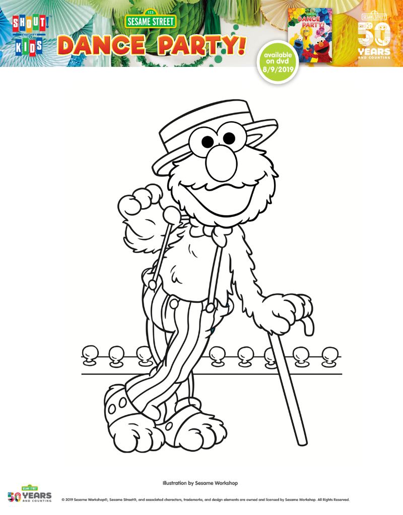 Elmo On Stage Printable Coloring Page Mama Likes This