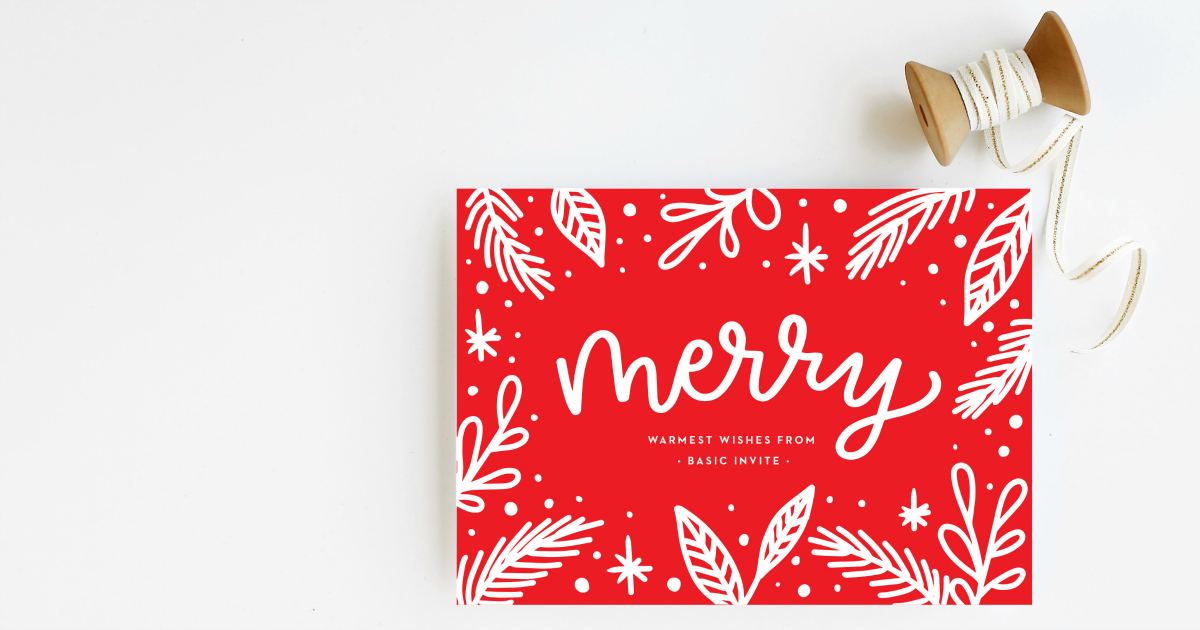 basic invite plan your holiday cards