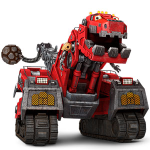 red dinotrux toy