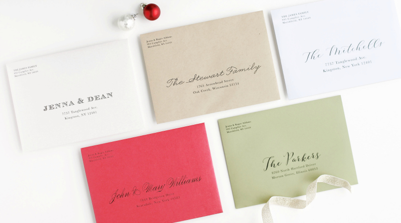 multi colored personalized envelopes