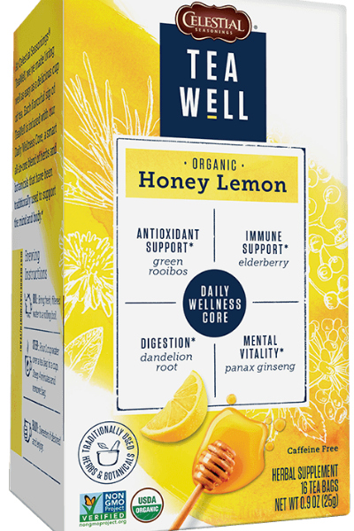 organic honey lemon teawell tea