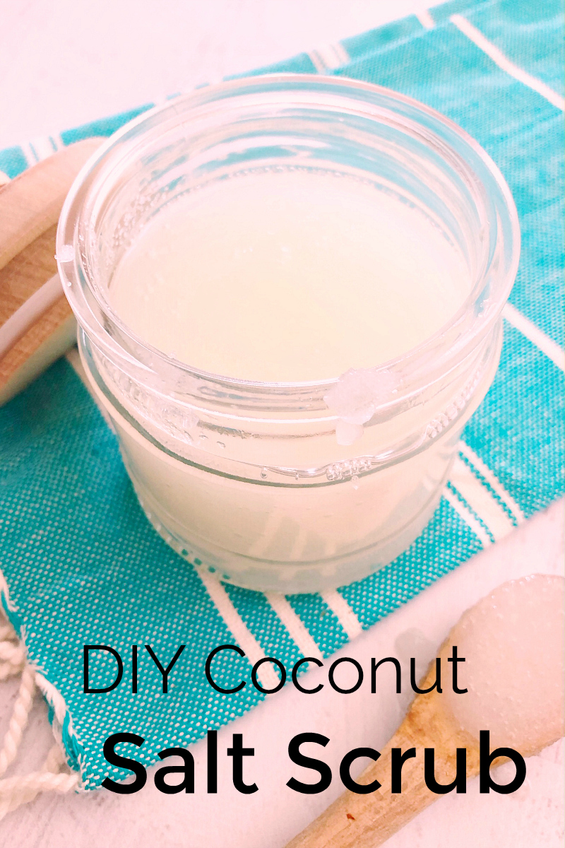 pin diy coconut salt scrub