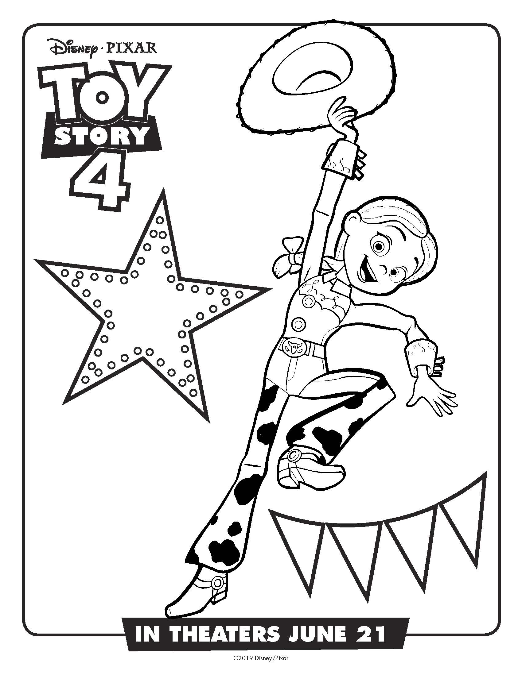 Jessie coloring page toy story