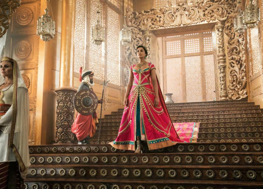 aladdin princess jasmine walking down stairs