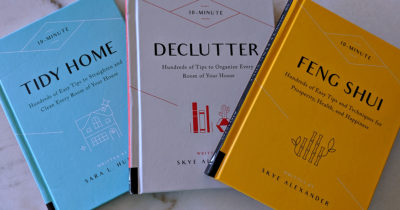 books filled with tidy home tips