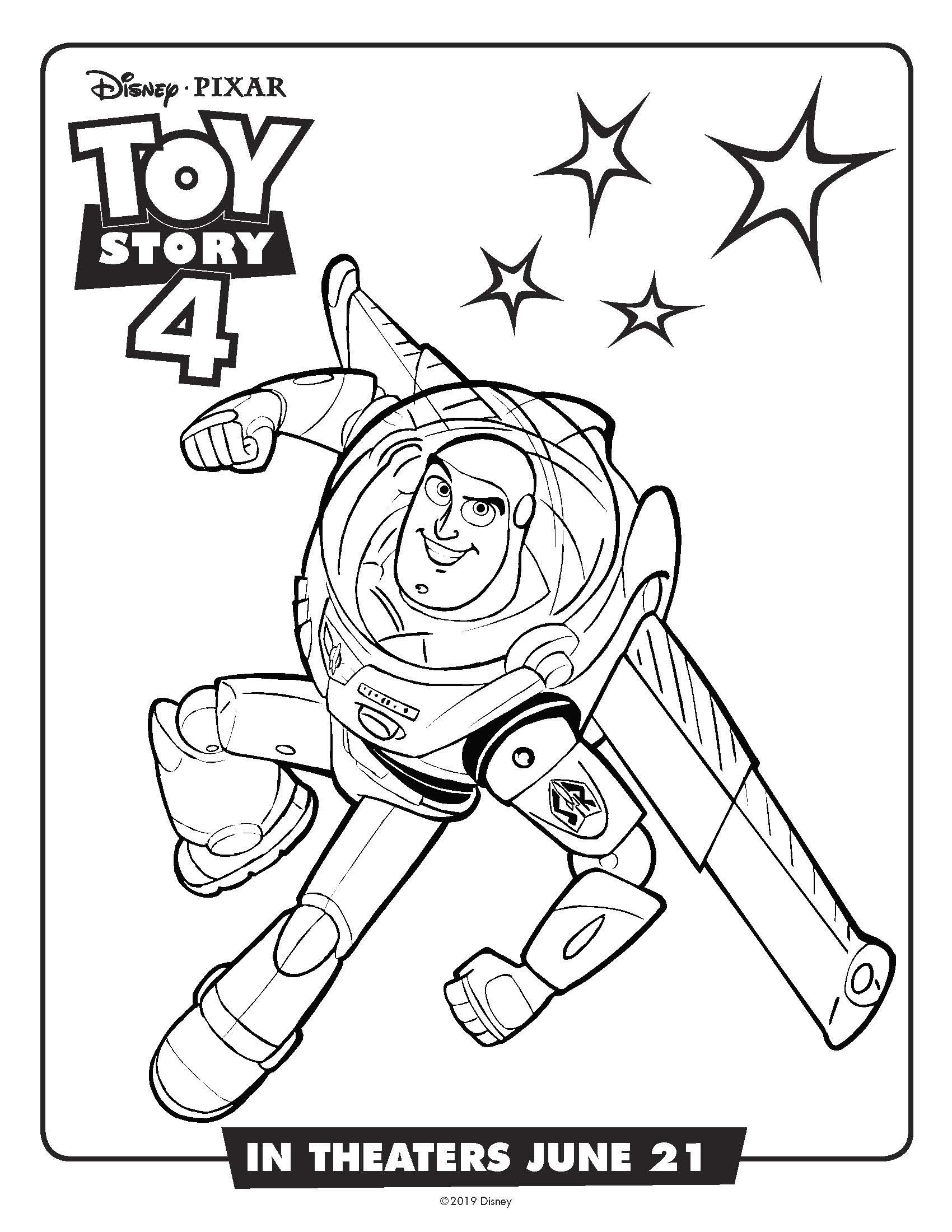 Free Printable Toy Story Buzz Lightyear Coloring Page #buzz #buzzlightyear #toystory #toystory4 #coloringpage #freeprintable #disney