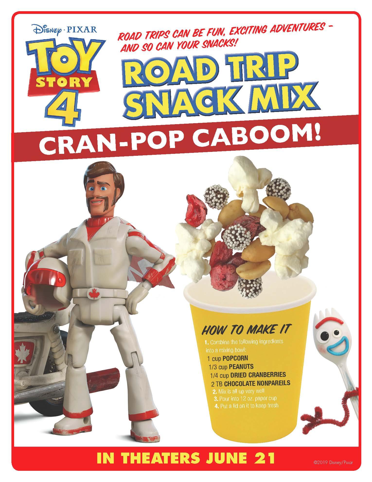 Toy Story Party Duke Caboom Snack Mix Recipe #toystory #toystory4 #dukecaboom #keanureeves #toystoryparty #snackmix #toystoryrecipe