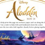 Free Printable Aladdin Bookmarks Craft