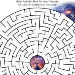 Free Printable Aladdin Cave Maze Activity Page