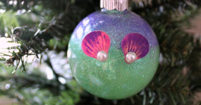 feature diy little mermaid ornament on christmas tree