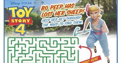 printable maze toy story