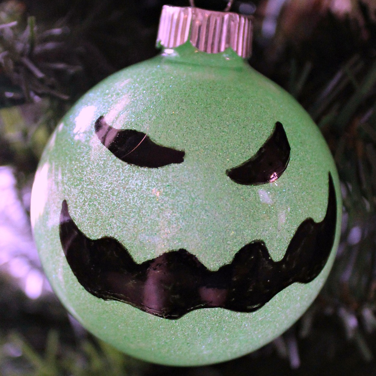 insta homemade oogie boogie tree ornament