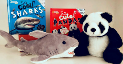 kids nat geo books and plush