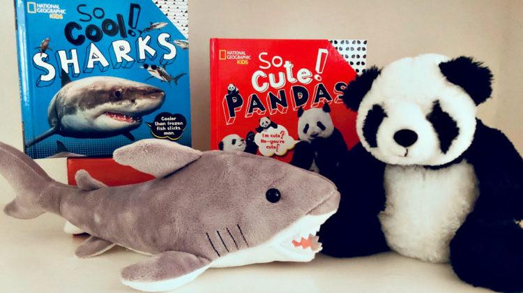 kids nat geo books and plush