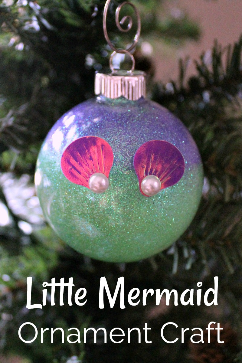 Little Mermaid Ornament - How To Make Your Own Ariel Christmas Tree Ornament Craft #Ariel #DisneyCraft #LittleMermaid #LittleMermaidCraft