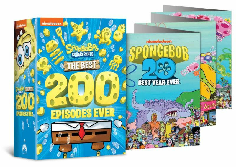 nickelodeon sponge bob square pants dvd box set and poster