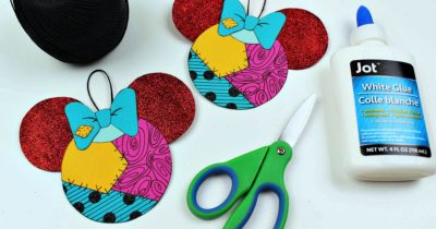 nightmare before christmas free printable sally ornament craft and supplies