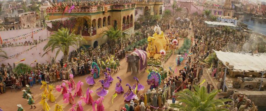 parade in aladdin movie