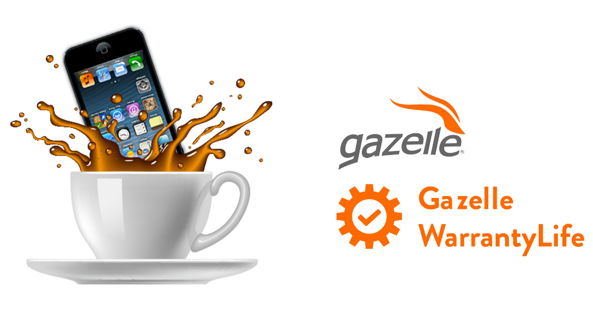 phone falling into cup of coffee