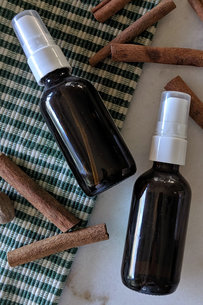 pin amber bottles for fall room sprays
