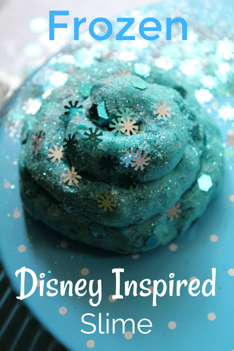 pin frozen disney inspired slime