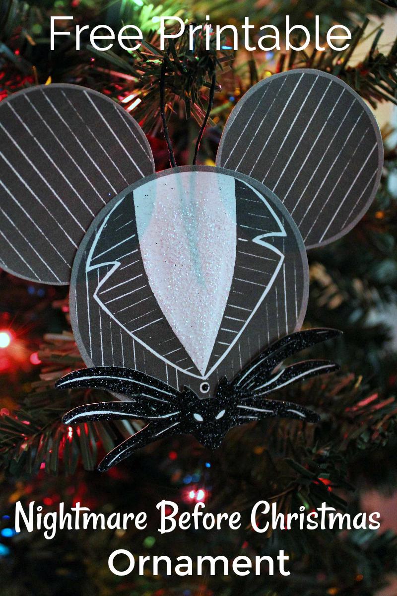 Free Printable Diy Jack Skellington Ornament Craft Mama Likes This