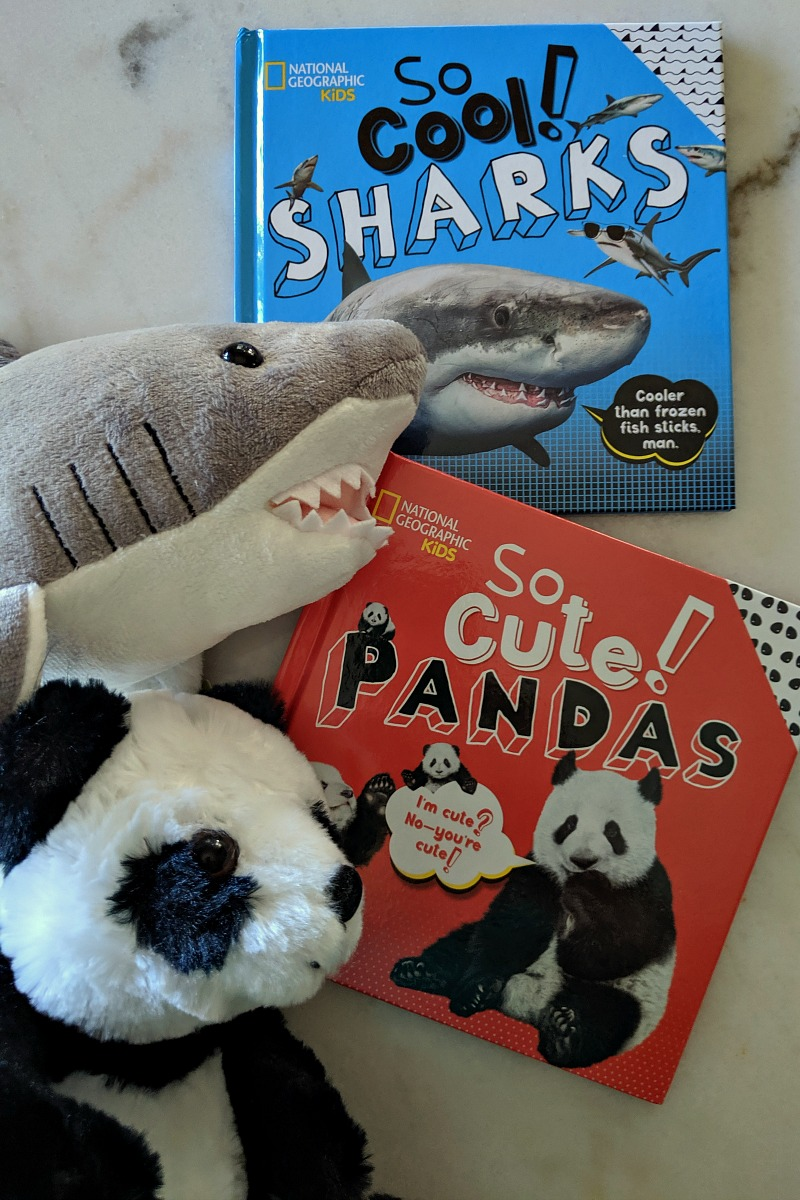 Nat Geo Sharks and Pandas Books for Kids #book #books #childrensbook #childrensbooks #shark #sharks #panda #pandas #natgeo #natgeokids