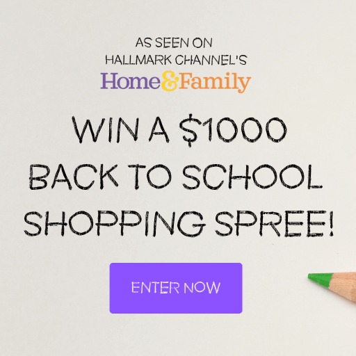Easy Entry $1,000 Back to School Giveaway