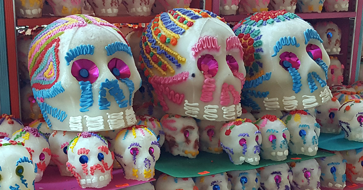 sugar skulls in assorted sizes
