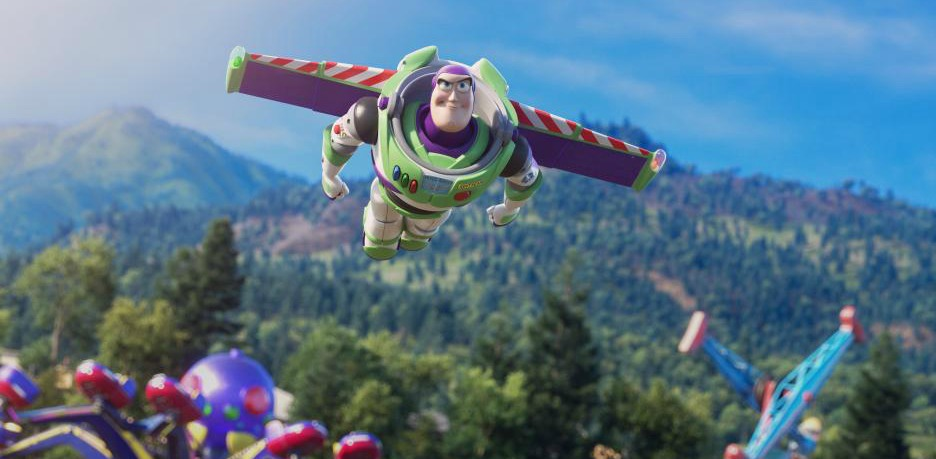 toy story buzz lightyear flying