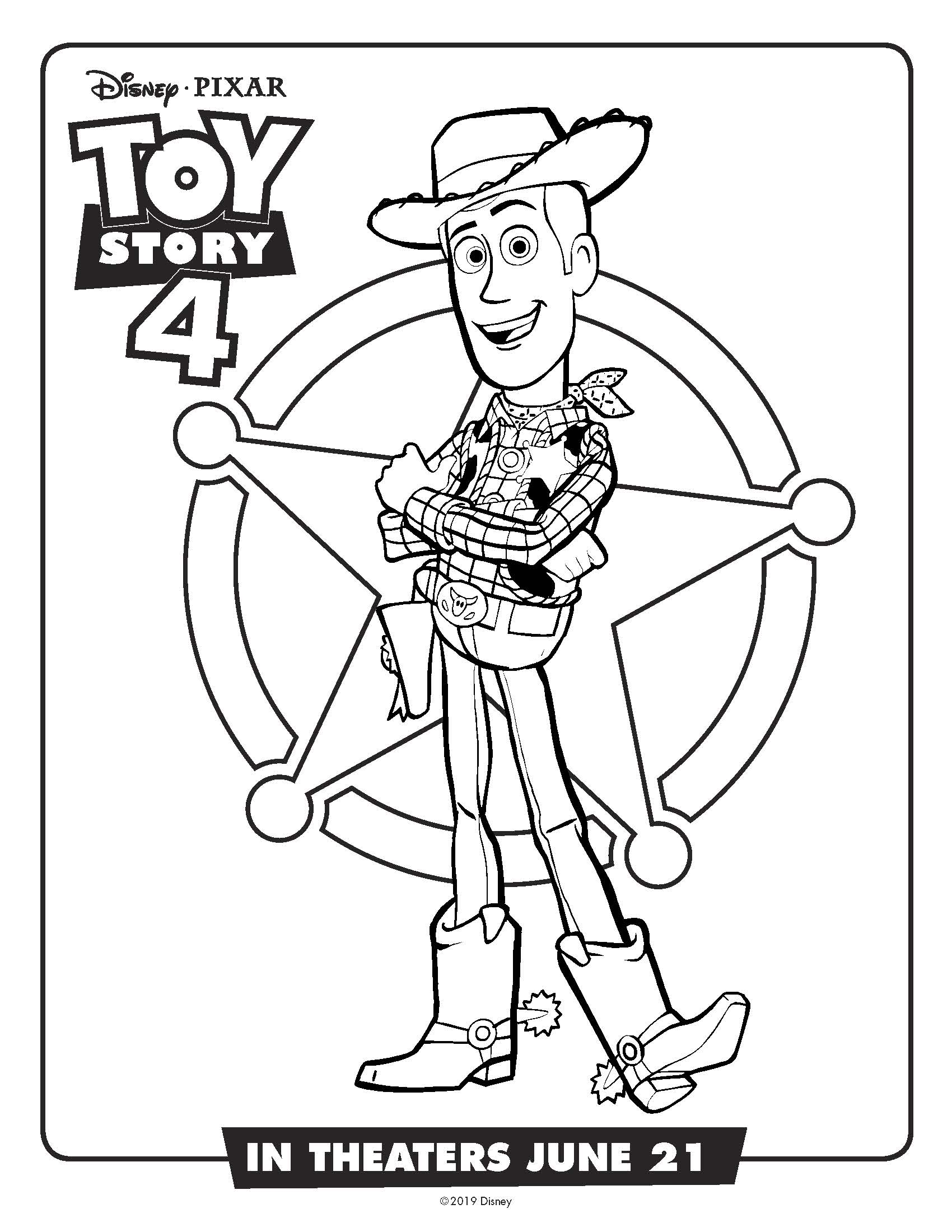 woody coloring page toy story