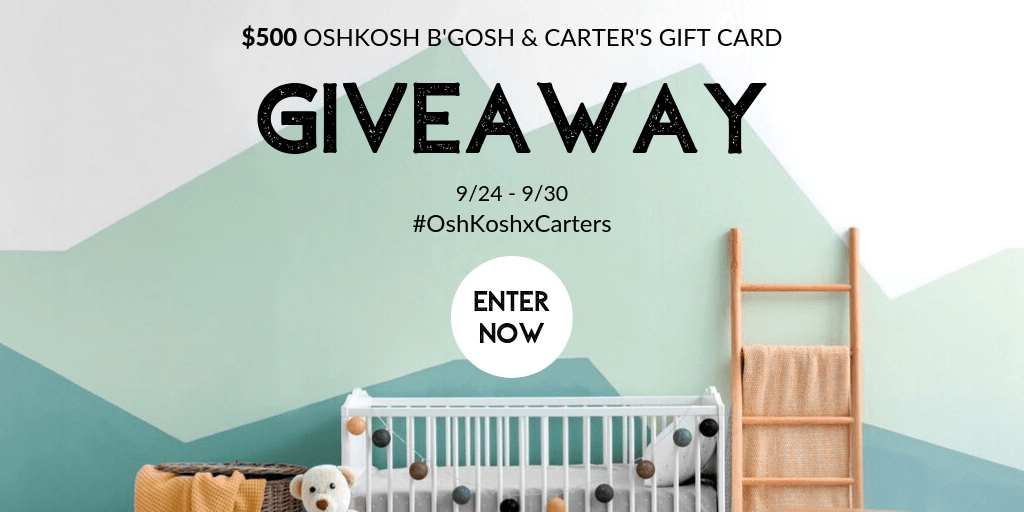 OshKosh and Carter's Gift Card Giveaway - 10 Winners