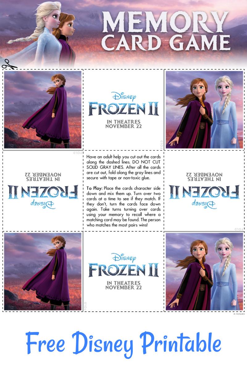 Free Printable Disney Frozen 2 Memory Game Cards #FreePrintable #Disney #Frozen #Frozen2 #MemoryGame