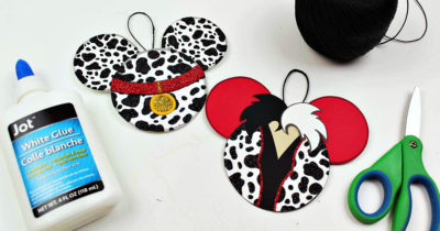 feature 101 dalmatians and cruella ornament craft