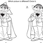 The Count Spot the Difference Activity Page