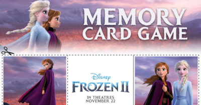 feature frozen 2 memory card game