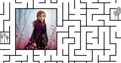 feature printable frozen maze
