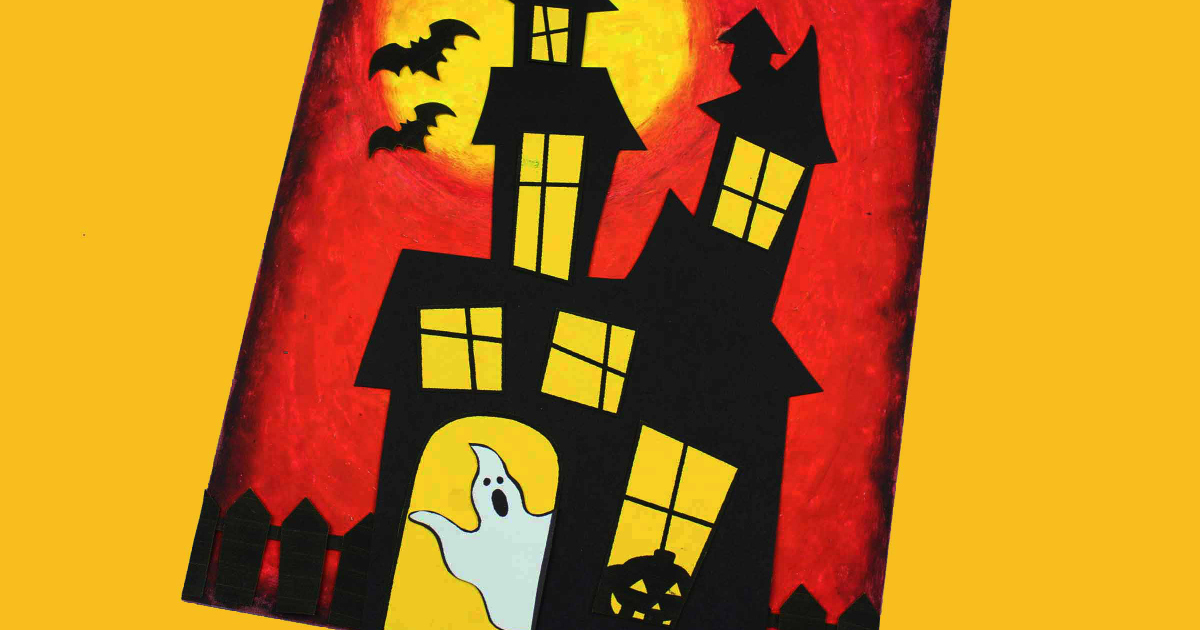 feature printable haunted house craft
